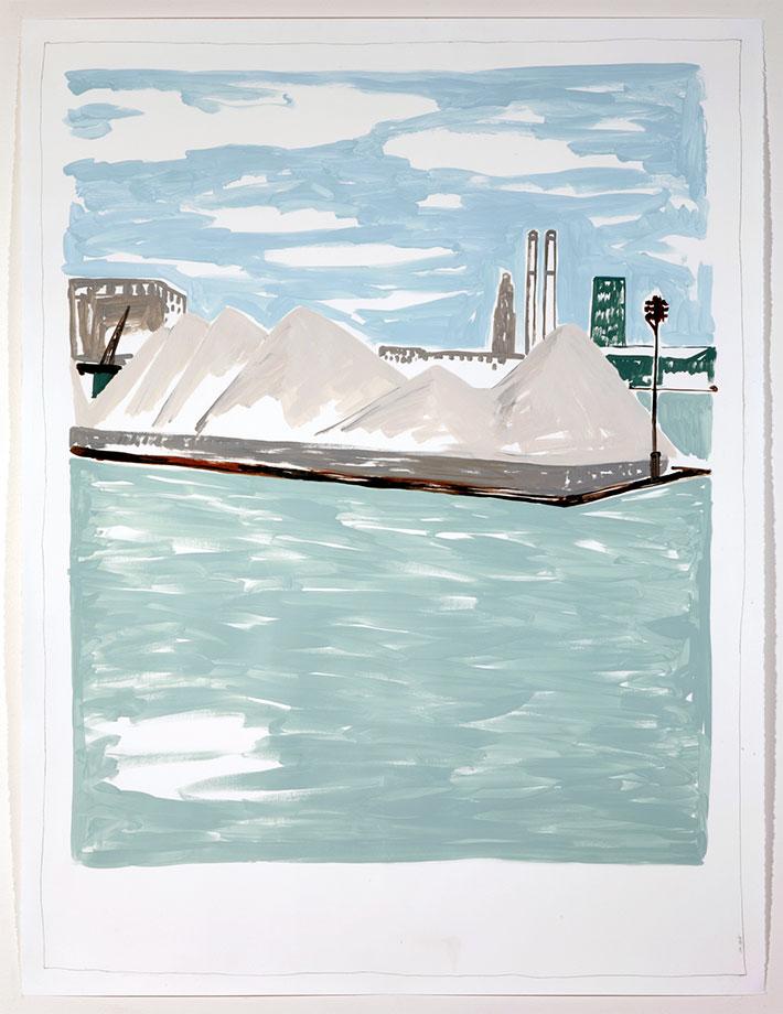 Sabbia / Acrylics on paper, cm 127 x 96.5