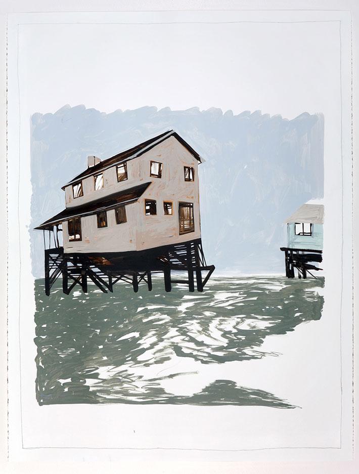 Fango / Acrylics on paper, cm 127 x 96.5