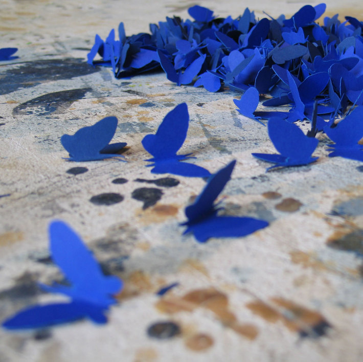 Detail. Paper Butterflies / Dimensions Variable