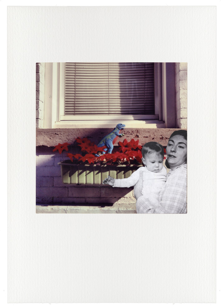 Untitled #03 / Paper collage on photograph - cm 27,5 x 32